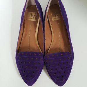 Dolce Vita Purple Leather Slip On Flats